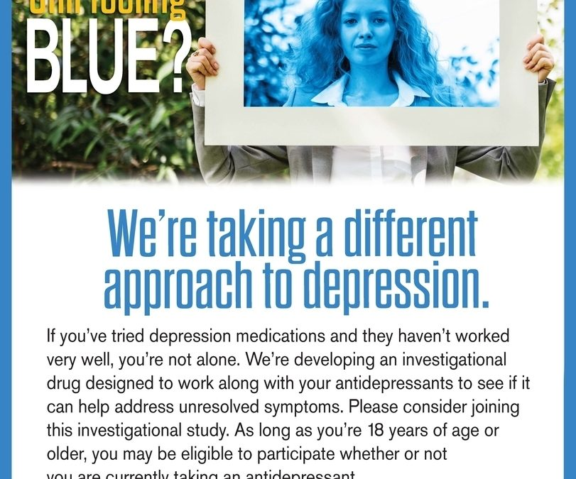 Still Feeling Blue? Depression Study Now Enrolling