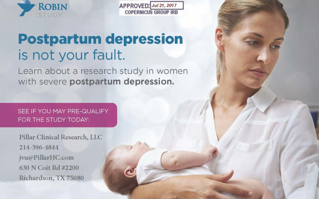 The Robin Study for Postpartum Depression ***CLOSED For Enrollment***